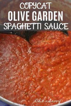 Olive Garden Spaghetti Sauce Recipe, Best Homemade Spaghetti Sauce, Homemade Sauce, Spaghetti Recipes, Spaghetti Sauce Packet Recipe, Spaghetti Sauce Canning, Olive Garden Meatballs Recipe, Homemade Speghetti Sauce, Ragu Spaghetti Sauce