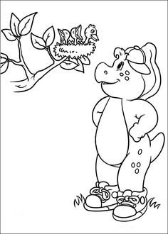 Barney And Friends Coloring Page | birthday | Pinterest | Kids colouring