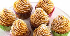 Cupcakes eli kuppikakut ovat näyttäviä leivonnaisia. Arlan sivuilta löydät maistuvimmat cupcakes reseptit ja upeimmat kuorrutukset! Toffee, Mini Cupcakes, Desserts, Food, Sticky Toffee, Tailgate Desserts, Candy, Deserts, Essen