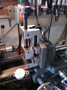 Shop made lathe milling attachment