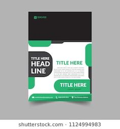 Business Brochure Template simple and Elegant, for cover, annual report and presentation.