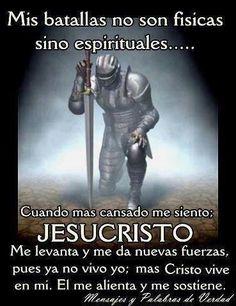 Somos más que vencedores!! Dios pelea la batalla por ti y por mi!!! No hay que temer, Dios es tu fuerza y tu escudo!! Amén Aleluya!!!!