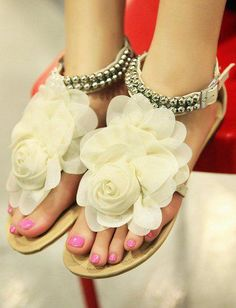 Sweet Flower Sandals