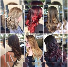 A variety of different color done by Adrianna at Escape Salon Claremont.