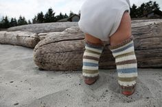 """FREE PATTERN - Legwarmies for Babies and Toddlers from Never not Knitting  These are the perfect cool weather accessory for the """"little legs"""" in your life. These are great for chilly mornings because they are so easy to slip off when the sun comes out."""