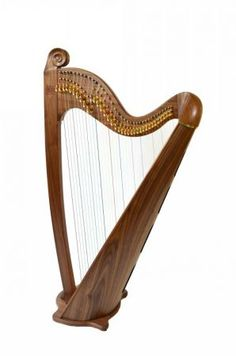 Black walnut Eos with scroll - Beautiful design, unrivaled sound http://www.welsh-harps.com/