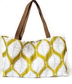 woodland green tote bag