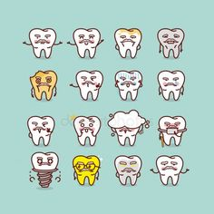 Dental, Kawaii, Teeth, Spa, Dentists, Computer File, Illustrations, Kawaii Cute, Tooth