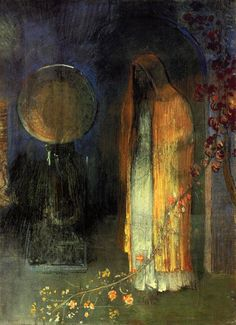 The Yellow Cape, 1895 Odilon Redon