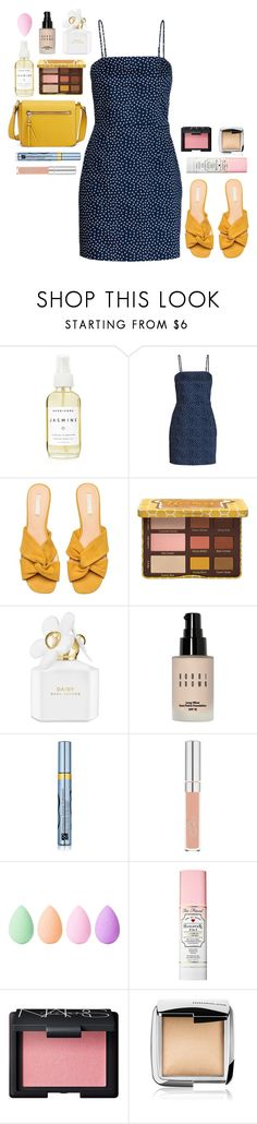 """Polka Dot Dress"" by florence2000 ❤ liked on Polyvore featuring A Weathered Penny, Marc Jacobs, Bobbi Brown Cosmetics, Estée Lauder, beautyblender, Too Faced Cosmetics, NARS Cosmetics and Hourglass Cosmetics"