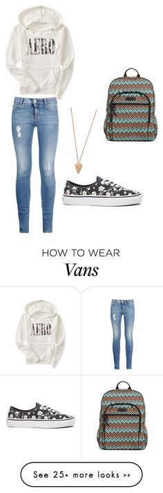 """Untitled #76"" by cisneros7 on Polyvore featuring Aéropostale, STELLA McCARTNEY, Vans, Pamela Love and Vera Bradley"