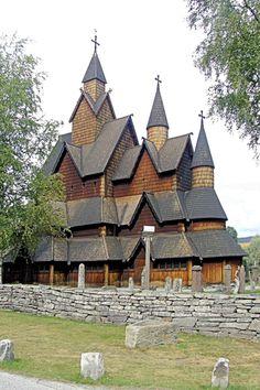 Heddal stave church, Norways largest stave church located at Heddal in Notodden municipally. Photo taken by Jørgen Larsen.