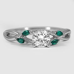 Another favorite. White Gold Willow Ring With Lab Emerald Accents I Love Jewelry, Jewelry Rings, Jewelry Accessories, Jewelry Design, Jewlery, Handmade Silver, Handmade Jewelry, White Gold Jewelry, Gold Jewellery