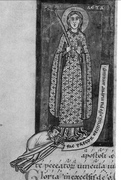 Don't know the source, but it is clearly second half of 12th century. Great all over patterned bliaut.