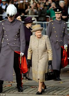 Britain's Queen Elizabeth arrives for the opening of the Flanders Fields Memorial...