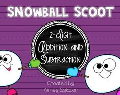 Snowball Scoot {2-Digit Addition and Subtraction} ...with and without regrouping...FREEBIE!