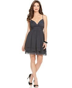 Calvin Klein Dress, Spaghetti Strap Ruched Empire Waist Tiered. Bought it for a wedding... I hope I get to wear it again!