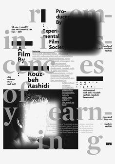 Experimental Film Society Posters/DVD covers by Pouya Ahmadi, via Behance