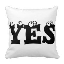 #YES #NO Throw Pillow