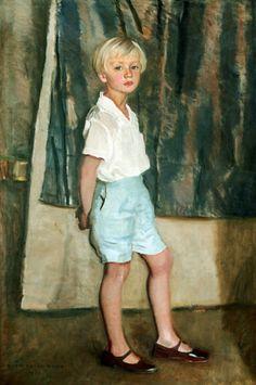 Portrait of a Younger boy by Harrington Mann