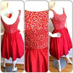 1950s Emma Domb Dress Hot Pink Vintage by brentedwardvintage