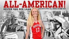 Hester van der Laan (ENG'17) was named to the Longstreth/National Field Hockey Coaches Association (NFHCA) Division I All-America Second Team in 2016.