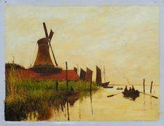 Monet, Watermolen bij Zaandam. 1871, 60*81 cm.