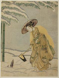 Suzuki Harunobu 鈴木 春信 Japanese, 1725 (?)-1770, Gathering Bamboo Shoots