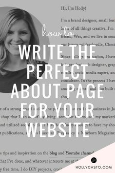 If you are at a loss about how to craft an about page that represents you correctly, today I'm sharing my tips + tricks for writing the perfect about page.