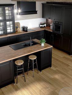 Open Plan Kitchen Diner, Open Plan Kitchen Living Room, Home Decor Kitchen, Smart Home Design, Modern Kitchen Design, Interior Design Kitchen, Kitchen Modular, Brown Kitchens, European Home Decor