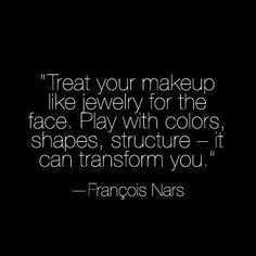 Treat your makeup like jewelry for the face. Play with colors, shapes, structure - it can transform you. #inspire