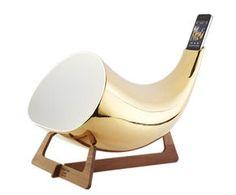 iPhone-Schalltrichter Megaphone, gold