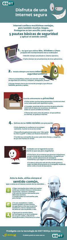 Infografía sobre consejos de seguridad para Internet