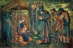 Sir Edward Burne-Jones – The Star of Bethlehem (1890) watercolor  Birmingham, Museum and Art Gallery