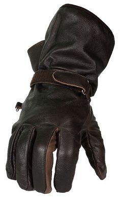 Lightweight Brown Leather Gauntlet Gloves
