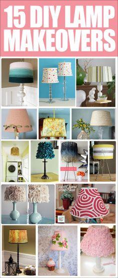 15 LAMP MAKEOVER IDE