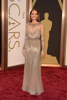 Angelina Jolie 2014 in Elie Saab bei den Oscars