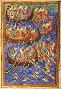 Vikings attacking Britain