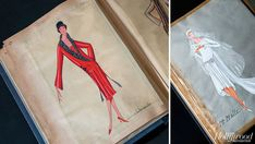 A Jeanne Lanvin sketch *vintage leavers