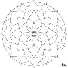 Mandala con petalos a distintas distancias