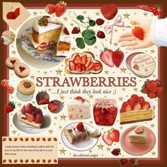 Aesthetic Food, Aesthetic Fashion, Aesthetic Clothes, Strawberry Cakes, Strawberry Shortcake, Strawberries And Cream, Alpine Strawberries, Chocolate Strawberries, Covered Strawberries