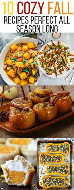 10 Cozy Fall recipes You'll Want to Eat All Season Long fall sweet dinner sides comfort foods autumn thanksgiving easy family sweet potato pumpkin squash butternut apple cranberries pies dinner