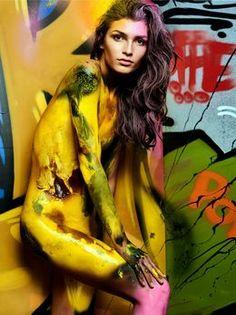 Originale Sexy Graffiti-Shooting - Germany's next Topmodel 2017