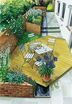 Gestaltungsidee schmaler Hof Variante 2 You are in the right place about Garden Planning photoshop Here we offer you the most beautiful pictures about the bujo Garden Planning you are looking for.