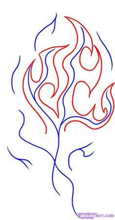 how to draw cartoon flames