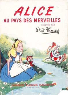 Alice in Wonderland: French Poster (white rabbit, Dinah)