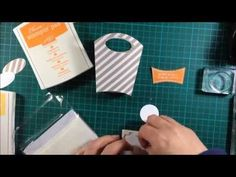 Treat bag made with All About Sugar stamp set and Fry Box die by Stampin Up! - YouTube