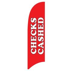 Victory Corps Checks Cashed 3 Piece Polyester Feather Flag Set Size: H x W, Color: Red Background with White Text 1 Check Cashing, Feather Flags, Evergreen Flags, Public Records, American Traditional, Colour Red, House Flags, Flag Design, Red Background