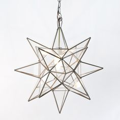 Worlds Away Clear Glass Star Chandelier-Available in Three Different Sizes, Smal - contemporary - Pendant Lighting - The Well Appointed House Eclectic Chandeliers, Star Chandelier, Lights, Large Chandeliers, Glass Stars, Chandelier, Pendant Chandelier, Ceiling Lights, Star Pendant Lighting