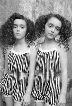 ▫Duets▫ sisters, twins & groups of two in art and vintage photos - twins in striped rompers Twin Girls, Twin Sisters, Twin Twin, Diane Arbus, Cute Twins, Identical Twins, Triplets, Siblings, How To Pose